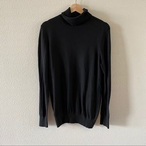 Faded Glory black turtle neck long sweater